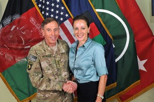 Gen. David Petraeus in a photo with his biographer/mistress Paula Broadwell. (U.S. government photo)