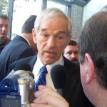 Rep. Ron Paul, R-Texas, answering questions while campaigning in New Hampshire in 2008. (Photo credit: Bbsrock)