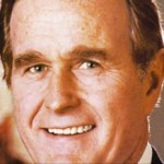 "President George H.W. Bush, a central figure in Robert Parry's new book, ""America's Stolen Narrative."""