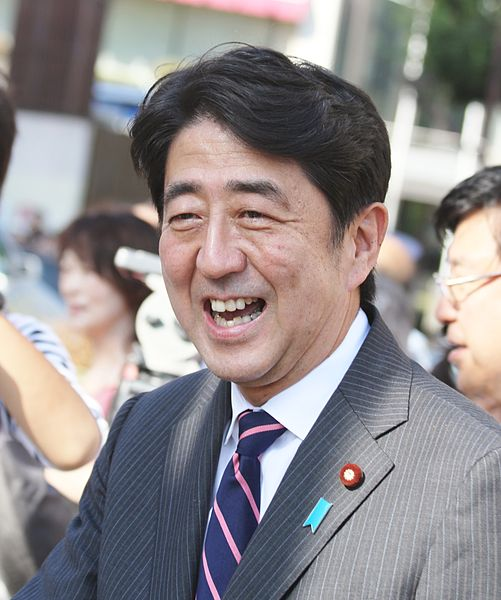 Shinzo Abe, leader of Japan's ruling Liberal Democratic Party.