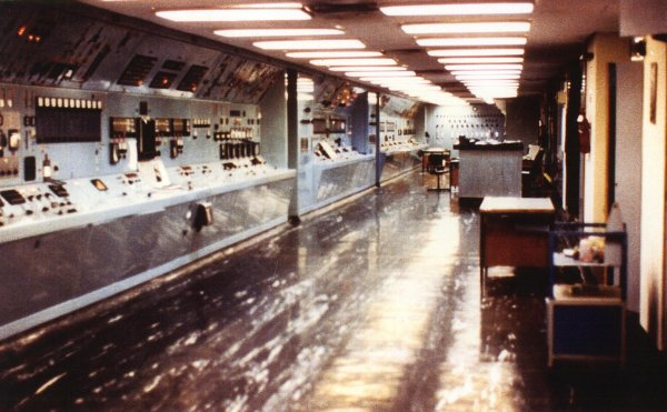 A photograph of a control room at Israel's Dimona nuclear weapons plant in the 1980s. (Photograph taken by nuclear technician Mordechai Vanunu, who was later kidnapped and imprisoned by Israel as punishment for revealing its secret nuclear arsenal.)