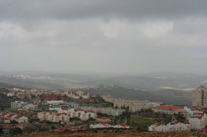 A panoramic view of the Israeli settlement of Ariel on the Occupied West Bank. (Photo credit: Beivushtang)