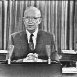 President Dwight Eisenhower delivering his farewell address on Jan. 17, 1961.