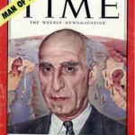Iran's Prime Minister Mohammed Mossadegh as pictured on the cover of Time magazine in 1951. Two years later, he was overthrown by a CIA-sponsored coup.