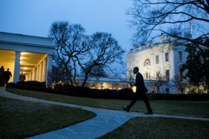 President Barack Obama returning to the White House on Jan. 17, 2013. (Official White House Photo by Pete Souza)