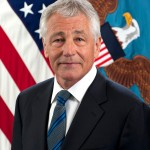 "Defense Secretary Chuck Hagel in his official ""portrait"" at the"
