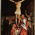 Depiction of Jesus's Crucifixion by 16th Century artist Mathis Gothart-Nithart.