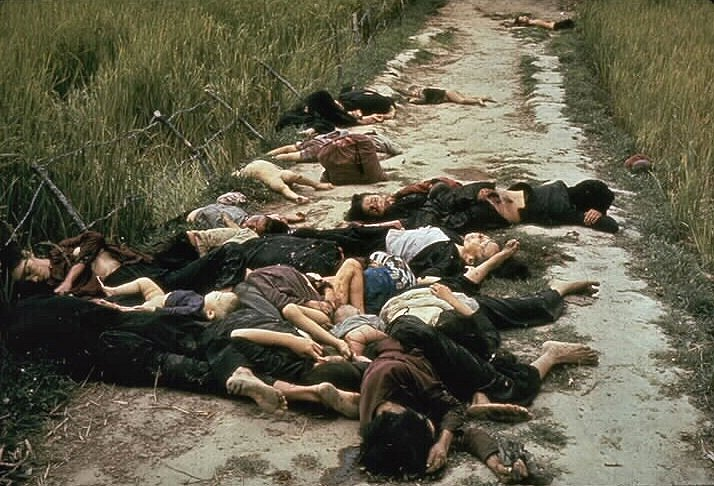 Photos of victims of the My Lai massacre in Vietnam galvanized public awareness about the barbarity of the war. (Photo taken by U. S. Army photographer Ronald L. Haeberle)