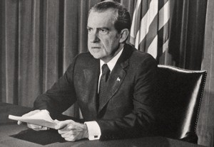 President Richard Nixon, speaking to the nation on Aug. 8, 1974, announcing his decision to resign.