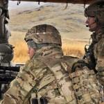 U.S. troops in Afghanistan man a checkpoint near Takhteh Pol in Kandahar province, Afghanistan, Feb. 26, 2013. (U.S. Army photo by Staff Sgt. Shane Hamann)