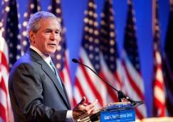Former President George W. Bush prepares to celebrate the dedication of his presidential library, which opens to the public on May 1, 2013.