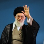Iran's Supreme Leader Ali Khamenei, waving to a crowd. (Iranian government photo)