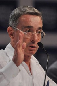 Ex-Colombian President Alvaro Uribe. (Photo credit: World Economic Forum)