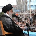 Iran's Supreme Leader Ali Khamenei speaks to a crowd. (Iranian government photo)