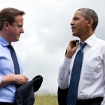 President Barack Obama and British Prime Minister David Cameron talk at the G8 Summit in Lough Erne, Northern Ireland, June 17, 2013. (Official White House Photo by Pete Souza)