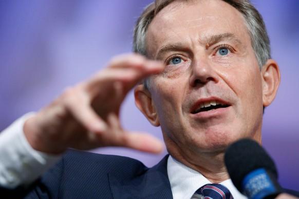 Former British Prime Minister Tony Blair.