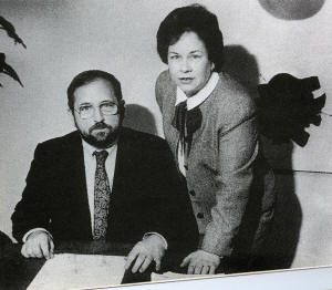 William Hamilton, developer of the PROMIS software, and his wife Nancy.