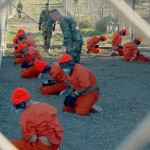 Some of the original detainees jailed at the Guantanamo Bay prison, as put on display by the U.S. military.