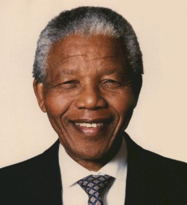 South African leader Nelson Mandela.