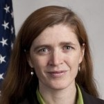 """Samantha Power, U.S. Ambassador to the United Nations and a leading advocate for """"humanitarian"""" military interventions."""