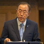 United Nations Secretary General Ban Ki-Moon urges all sides to give UN inspectors time to complete their investigation into alleged chemical weapons attacks in Syria. (UN photo)