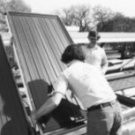 President Jimmy Carter's solar panels being installed on the White House roof.