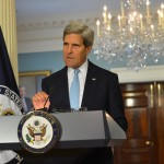 U.S. Secretary of State John Kerry delivers remarks on Syria at the Department of State in Washin