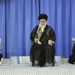 Iran's Supreme Leader Ali Khamenei (center) formally endorsed the new president Hassan Rouhani (right) in a ceremony including outgoing president Mahmoud Ahmadinejad (left). (Official Iranian government photo)