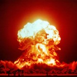 A nuclear test detonation carried out in Nevada on April 18, 1953.