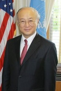 Yukiya Amano, a Japanese diplomat and director-general of the International Atomic Energy Agency.