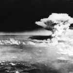 The mushroom cloud from the atomic bomb dropped on Hiroshima, Japan, on Aug. 6, 1945.