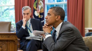 President Barack Obama and White House Chief of Staff Denis McDonough. (This White House photo by Pete Souza was taken when McDonough was deputy national security adviser.)