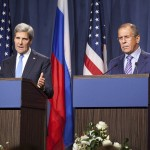 U.S. Secretary of State John Kerry at a joint press conference regarding the Syrian crisis with Russian Foreign Minister Sergey Lavrov. (State Department photo)