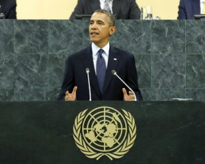 President Barack Obama speaking to the United Nations General Assembly on Sept. 24, 2013. (UN photo)