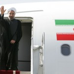 Iranian President Hassan Rouhani leaves Tehran for New York to attend the 68th annual meeting of the United Nations General Assembly. (Iranian government photo)