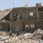 A scene of destruction after an aerial bombing in Azaz, Syria, Aug. 16, 2012. (U.S. government photo)