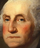 President George Washington, who warned against the dangers of a large military and an aggressive foreign policy to the Republic.