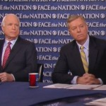 "Sen. John McCain, R-Arizona, and Sen. Lindsey Graham, R-South Carolina, appearing on CBS' ""Face the Nation."""