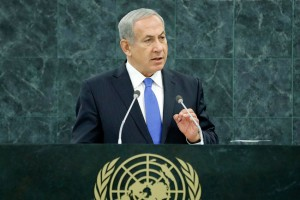 Israeli Prime Minister Benjamin Netanyahu speaking to the United Nations General Assembly on Oct. 1, 2013. (UN Photo by Evan Schneider)