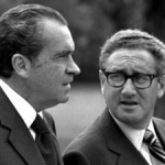 President Richard Nixon with his then-National Security Advisor Henry Kissinger in 1972.