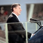 President Ronald Reagan, delivering his Inaugural Address on Jan. 20, 1981.