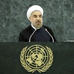 Iran's President Hassan Rouhani addressing the United Nations Genera