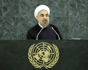 Iran's President Hassan Rouhani addressing the United Nations General Assembly on Sept. 24, 2013. (UN Photo)