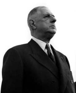 French President Charles de Gaulle in 1961.