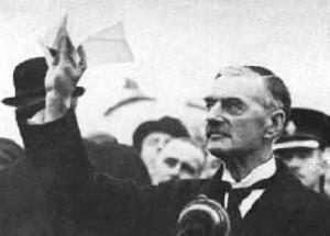 British Prime Minister Neville Chamberlain.