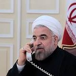 Iran's President Hassan Rouhani talks by telephone with Russian President Vladimir Putin on Nov. 18, 2013, discussing developments in the talks between Tehran and the world powers as well as ways to end the bloodshed in Syria. (Iranian government photo)