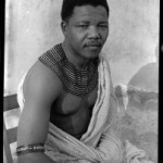 Nelson Mandela as a young African tribal leader.