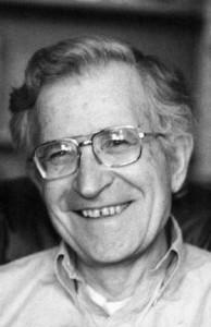 Author Noam Chomsky.