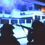 U.S. Army Rangers assault La Comandancia, headquarters of the Panamanian Defense Force, in the El Chorrillo neighborhood of Panama City during the invasion of Panama,  December 1989. (U.S. military photo)