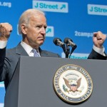 Vice President Joe Biden addresses a J Street conference in 2013.